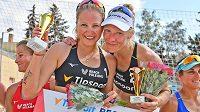 Díky dvěma titulům z posledních turnajů se Michaela Kubíčková s Michalou Kvapilovou staly královnami Beach Series.