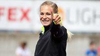 Tyčkařka Amálie Švábíková, jedna z možných budoucích hvězd české atletiky.
