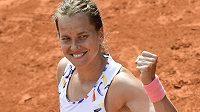 Barbora Strýcová v utkání proti Kateřině Siniakové