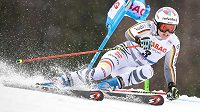 Viktoria Rebensburgová na archivním snímku z obřího slalomu Světového poháru ve Špindlerově Mlýně.