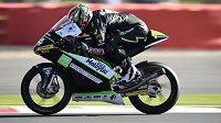 Český motocyklový závodník Jakub Kornfeil dojel v Silverstonu druhý.