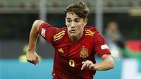 Španělský supertalent Gavi v utkáníLigy národů proti Itálii.