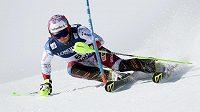 Švýcarský lyžař Luca Aerni během slalomu do kombinace na MS ve Svatém Mořici.