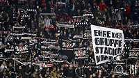 Fanoušci Eintrachtu Frankfurt