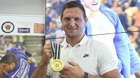 Judista Lukáš Krpálek se zlatou medailí z nedávného ME v Tel Avivu.