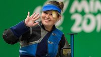 Nikola Mazurová vybojovala na Evropských hrách v Minsku bronzovou medaili ve střelbě ze vzduchové pušky