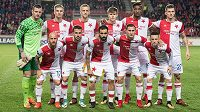 Mužstvo Slavie před pohárovým duelem s Villarrealem.