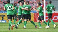 Fotbalisté Příbrami se radují z gólu. Budou se dodatečně radovat i ze záchrany nejvyšší soutěže?