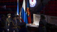 Loučení s Viktorem Tichonovem v hale CSKA.