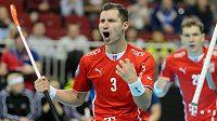 Dvakrát se takto radoval Daniel Šebek z gólu do norské sítě. Bude moct podobně slavit i proti Lotyšům?