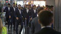 Íránská fotbalová reprezentace na letišti Vnukovo v Moskvě.
