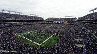 Oslava vízětsví v Super Bowlu na M&T Bank Stadium