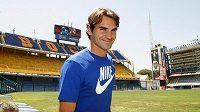 Roger Federer na Estadio La Bombonera.