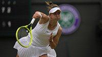 Barbora Krejčíková vypadla v osmifinále Wimbledonu s Australankou Ashleigh Bartyovou.