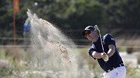 Brit Justin Rose při soutěži golfistů.