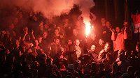 Fanoušci Feyenoordu Rotterdam v Římě.