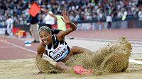 Olympijská vítězka a světová rekordmanka v trojskoku Yulimar Rojasová na mítinku Diamantové ligy v Curychu.