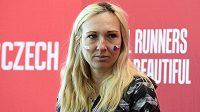 Česká vytrvalkyně Eva Vrabcová-Nývltová na tiskové konferenci k Pražskému půlmaratónu.