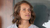 Tenistka Barbora Strýcová po návratu z Wimbledonu.