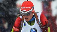 Biatlonistka Gabriela Soukalova si s těžkými podmínkami v Pokljuce poradila skvěle. Slaví první triumf v SP.