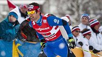 Dušan Kožíšek při týmovém sprintu na MS ve Val di Fiemme.