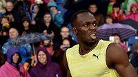 Jamajský sprinter Usain Bolt a jeho nečekaný výraz. Že by ho někdo předbíhal?