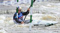 Český vodní slalomář Vavřinec Hradlek během kvalifikace MS v Praze.