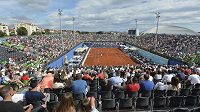 V Zadaru bylo na tenisové exhibici skoro plno.