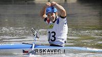 Jiří Prskavec a jeho oslavné gesto po finále Světového poháru.