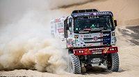 Martin Kolomý na trati 2. etapy Rallye Dakar.