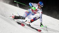 Slovenka Petra Vlhová během prvního kola slalomu Světového poháru ve Flachau.