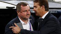 Kouč Realu Madrid Julen Lopetegui se zdraví s Pavlem Vrbou