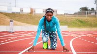 Americká sprinterka Candace Hillová má před sebou velkou budoucnost.