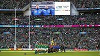 Zápas mezi Irskem a Rumunskem sledovalo ve Wembley přes 89 tisíc diváků.