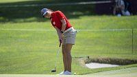 Česká golfistka Klára Spilková během 3. kola olympijského turnaje