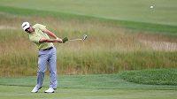 Američan Andrew Landry na golfovém majoru US Open v Oakmontu.