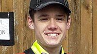Patnáctiletý závodník Sam Norris.