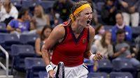 Běloruská tenistka Viktoria Azarenková na letošním US Open.