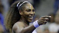 Radost Sereny Williamsové po postupu do finále US Open.