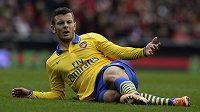 Jack Wilshere zažil se svým Arsenalem hodně pochmurný den.