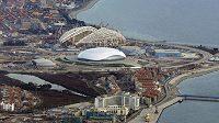 Dějiště Zimních olympijských her 2014 Soči rok před zahájením největšího sportovního svátku.