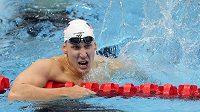 Američan Chase Kalisz vyhrál první plaveckou finálovou disciplínu v Tokiu - 400 m polohový závod.
