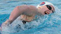 Americká plavkymně Katie Ledecká znovu měnila tabulky rekordů.