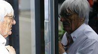 Bernie Ecclestone na okruhu ve Spielbergu. Velká cena Rakouska měla údajně o 40 procent nižší sledovanost než loni.