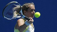Česká tenistka Klára Zakopalová během utkání prvního kola Australian Open s Jihoafričankou Chanelle Scheepersovou.
