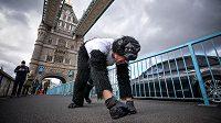 Mr. Gorilla na trati londýnského maratonu.