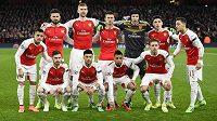 Předzápasové foto Arsenalu.