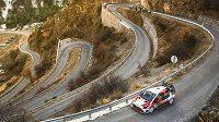 Jari-Matti Latvala a Miika Anttilla s Toyotou Yaris WRC na trati Rallye Monte Carlo, kde vybojovali druhou příčku.