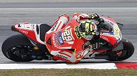 Ital Andrea Iannone při GP Malajsie.