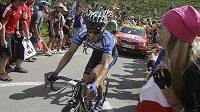 Český cyklista Leopold König na trati letošní Tour de France.